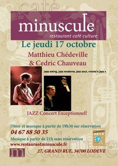 Lodève : Matthieu Chédeville & Cedric Chauveau @ Minuscule