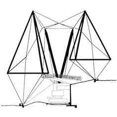 Archigram is well known and its influences on architectural world are clearly understood and illustrated. The name of Cedric Price is often heard in Archigram circles as he was close to. Zoo Architecture, Architecture Tattoo, Cedric Price, Tensile Structures, Urban Intervention, Building Drawing, Timber Structure, Technical Drawing, Pop Art