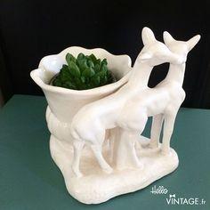 Pot de fleur vintage biche  - Hello Vintage Shop - Meubles, objets, decoration, mode, jouets vintage et (re) - creations pour petits et grands enfants - www.hellovintage.fr