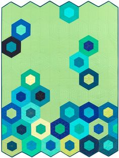 """Science Fair"" quilt designed by Jaybird Quilts. Features Kona Cotton Solids."