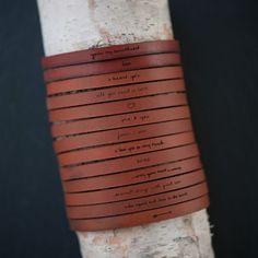 Laurel Denise Adjustable Leather Bracelets | eBay