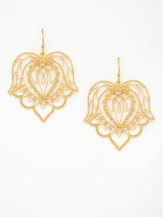 Dream Mullick  Filigree Floral Drop Earrings  $225