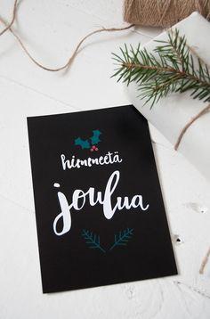 himmeetä joulua christmas card joulukortti