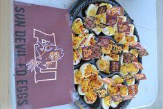 Sun Devil-ed Eggs, Arizona State University (ASU) inspired Deviled Eggs