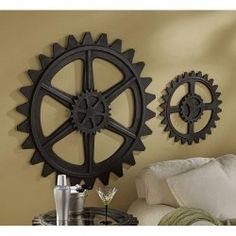 This is the kind of stuff I imagine Kris decorating his room in Steampunk decor items not only look good but are thought provoking. Here is some steampunk home decor for you to consider. Whether you want figurines. Steampunk Home Decor, Steampunk House, Steampunk Design, Industrial Living, Industrial Chic, Vintage Industrial, Industrial Design, Punk Decor, Gear Art