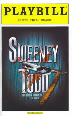 sweeny todd playbill cover - Google Search