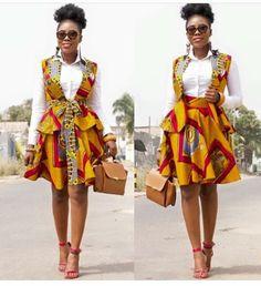 Stylish african print ankara jackets and blazers styles with matching skirt, ankara jackets and skirt styles for ladies, latest ankara blazers and skirt styles for stylish ladies African Inspired Fashion, Latest African Fashion Dresses, African Print Dresses, African Print Fashion, Africa Fashion, African Dress, Fashion Prints, Ankara Fashion, African Prints