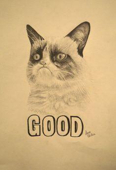 Grumpy Cat by ~ceciliabouzane on deviantART #Tard #GrumpyCat