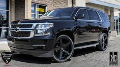 chevy tahoe 22 inch wheels - Google Search Black Chevy Tahoe, Chevy Tahoe Ltz, Chevrolet Tahoe, Custom Chevy Trucks, Gmc Trucks, Monster Trucks, Jeep Suv, Gmc Suv, Chevrolet Suburban
