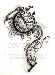 broken glass pocket watch tattoo - Google Search