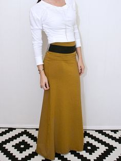 Maxi Skirt, Long Women's Chic Skirt, xs small medium large xl, Tall Petite tribalth