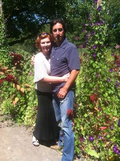 Critten & Jennifer Rivera on a Garden tour in Sonoma County