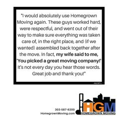 Happy move = happy wife = happy life. We're a recipe for marital bliss. What other #moving company can say that?! #Denver #Colorado
