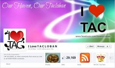 I Love Tacloban is a Facebook page which serves as a bridge to all Waraynons online. The online community first started on April 21, 2010 but for some reasons, the page has been dissolved. A second page was created on August 2010 and has been active since its start. The page continues to serve Waraynons online. The people behind the page is also active offline and ever since the page started and became known in Tacloban, the page also provide charity works for the poor.