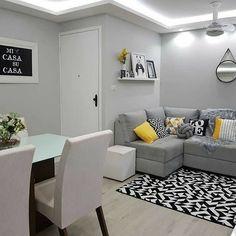 Living Room Ideas 2019, Living Room Grey, Home Living, Apartment Living, Interior Design Living Room, Living Room Designs, Living Room Decor, Small Living, Small Apartment Decorating