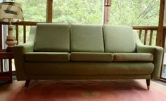 Mid-century sage green Danish couch from Gremlina @Etsy