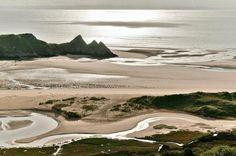 The Gower Peninsula, Wales. (This is Three Cliffs Bay.)