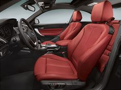 BMW 2 Series Coupe Transport Auto Interior Red Leather