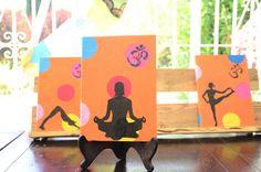 #Cuaderno o #diario #Lamali Pintado #Yoga por papeleriapuntocom en Etsy, €15.00 www.la-papeleria.com