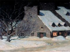 Street Scene, Quebec at Night | Clarence Gagnon
