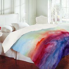 Jacqueline Maldonado Arpeggi Duvet Cover Painted Multi-Color Bedspread