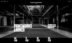 Printworks, a ground breaking new multi purpose event space for London. Set to change the face of the capitals cultural scene, Printworks is a 6,000 capacity licenced venue for music and the arts. #pcmsiteinspire #siteinspire #cssdesign #webdesign #template #websites