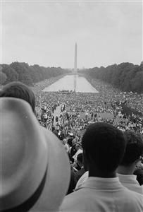 Warren Leffler, CIVIL RIGHTS MARCH ON WASHINGTON, D.C., AUGUST 28, 1963, 1963, Black and white copy photograph, Courtesy of the Art in Embassies Program and the Library of Congress, Washington, D.C. (Art in Embassies, U.S. Department of State. Cairo Embassy 2011)