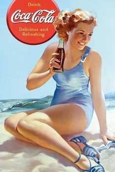 Coca Cola - Beach Poster / Kunst Poster