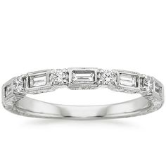 18K White Gold Vintage Diamond Baguette Ring (1/3 ct. tw.) from Brilliant Earth. would go perfect with my engagement ring