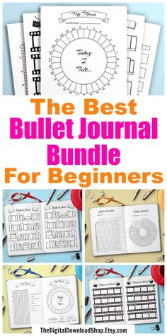 Bullet Journal Starter Pack- If you're new to bullet journaling, don't waste time hunting down a bunch of inserts. Instead, get started right away with this big bullet journal starter pack! | #bulletJournal #bujo #printable #planner #journal #tracker #bulletJournalJunkies #bujoJunkies #bulletJournaling