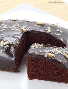 Recipe eggless chocolate cake without oven