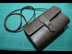 Making a simple leather lady sling bag - YouTube