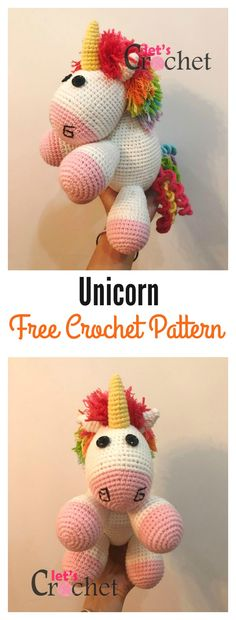 Adorable Unicorn Free Crochet Pattern