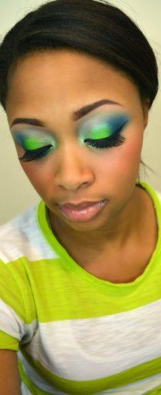 Seattle Seahawks Makeup Tutorial