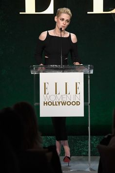 Kristen Stewart Photos Photos - Honoree Kristen Stewart speaks onstage during the 23rd Annual ELLE Women In Hollywood Awards at Four Seasons Hotel Los Angeles at Beverly Hills on October 24, 2016 in Los Angeles, California. - 23rd Annual ELLE Women In Hollywood Awards - Show