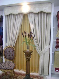 Imagenes de cortinas para salas elegantes cenefas pinterest for Argollas con pinzas para cortinas