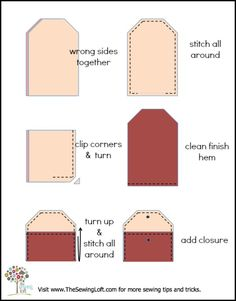 Eyeglass Case How To by The Sewing Loft. This pattern is a great way to use up scrap fabric.