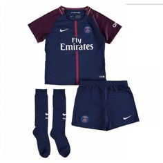 8f659e835c208 Maillot PSG Enfant 2017-2018 Domicile Maillot Paris Saint Germain, Soccer  Kits, Football