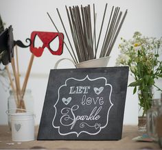 Personalised wedding blackboard sign for by RusticWeddingGraphic