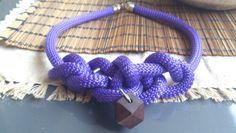 Χειροποίητα κολιέ απο ορειβατικο κορδόνι   www.etsy.com/shop/bizeli Handmade Necklaces, Bracelets, Color, Etsy, Jewelry, Jewlery, Jewerly, Colour, Schmuck