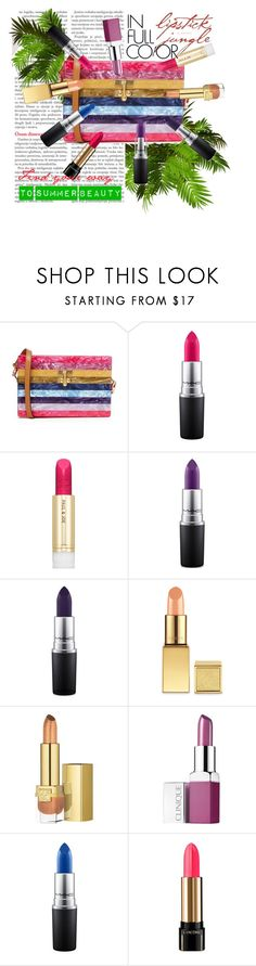 """Find Your Color in the Lipstick Jungle"" by vittorio-1 ❤ liked on Polyvore featuring beauty, Edie Parker, MAC Cosmetics, Paul & Joe, AERIN, Estée Lauder, Clinique and Lancôme"