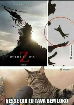 World War Z That Day I Was Fucking Crazy - Funny Memes. The Funniest Memes worldwide for Birthdays, School, Cats, and Dank Memes - Meme Crazy Funny Memes, Really Funny Memes, Stupid Memes, Funny Relatable Memes, Haha Funny, Funny Stuff, Animal Jokes, Funny Animal Memes, Funny Animals