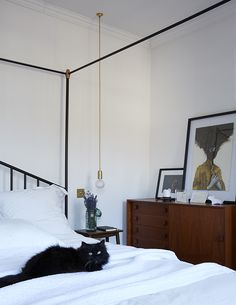 SUNDAY TIMES STYLE feature Creative Director Amy Powney's bedroom.  Photography Paul Massey #motherofpearl #pearlyqueen #amypowney #interiors #bedroom London House, Contemporary Fashion, Creative Director, Luxury, Bedroom Photography, Furniture, Design, Sunday, Home Decor