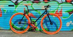 Santa Fixie. Bicicleta NoLogo Bike Black Orange.