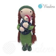 Forest fairy inspired by Lalylala / Crochet Doll / Handmade Amigurumi / Amigurumi animal/Green Crochet Doll Pattern, Crochet Dolls, Forest Fairy, Doll Eyes, Crochet Designs, Teddy Bear, Christmas Ornaments, Toys, Holiday Decor