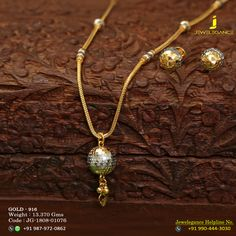 Gold 916 Premium Design Get in touch with us on Gold Jewelry Simple, Gold Rings Jewelry, Bridal Jewelry, Gold Necklaces, Gold Chain Design, Gold Jewellery Design, Gold Pendent, Jewelry Model, Gold Accessories