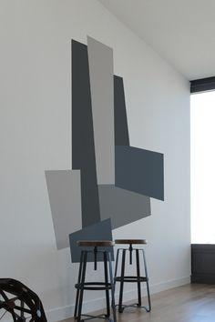 Color Block Slant - Blik wall decals - Mina Javid