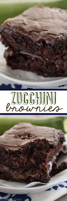 Zucchini Brownies – the easiest recipe for the most gooey, chocolaty, fudgy brownies full of zucchini! And NO ONE will guess! Zucchini Brownies – the easiest recipe for the most gooey, chocolaty, fudgy brownies full of zucchini! And NO ONE will guess! Healthy Desserts, Just Desserts, Delicious Desserts, Dessert Recipes, Yummy Food, Zucchini Desserts, Recipe Zucchini, Zuchinni Recipes, Dairy Free Zucchini Brownies