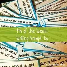 [Pin of the Week]Tip: Create a jar with 100+ writing prompts to inspire…