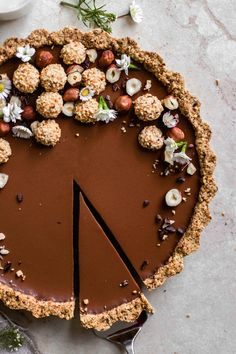 Melt-in-your-mouth Chocolate Tart - Flowers in the Salad
